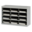 Safco EZ Stor Steel Project Organizer 12 Compartment 9254GR (Gray) ES471