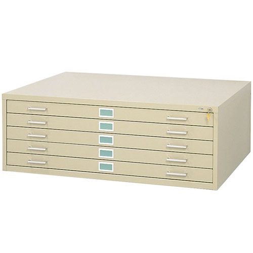 "Safco 5 Drawer Steel Flat File for 36"" x 48"" Documents 4998"