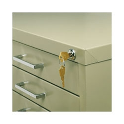 Safco Lock Kit 4981 (Use with 5-Drawer Cabinets 4994, 4996, 4998 ONLY) ES571
