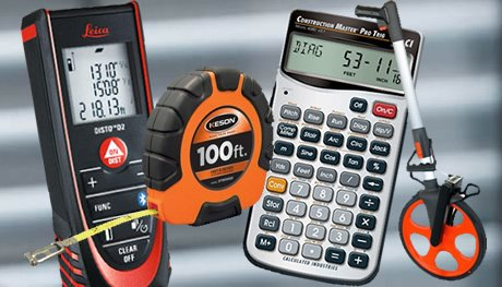 Power Tools, Measuring Tapes, Construction Calculators, Laser Levels