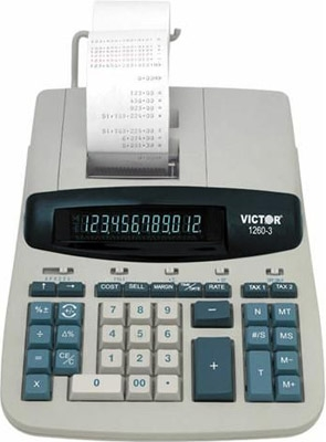 Victor Calculator Commercial Calculator with Cost-Sell-Margin & Time/Date 1260-3 ES1692