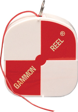 12 Foot White-Orange Gammon Reel 21012