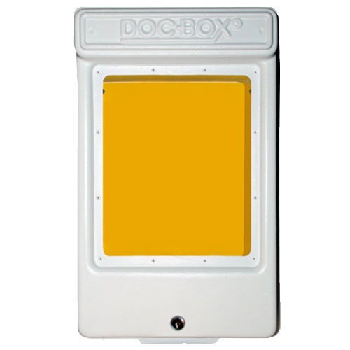 Doc-Box 2 with Lock and Window Permit Holder Box Model 10119