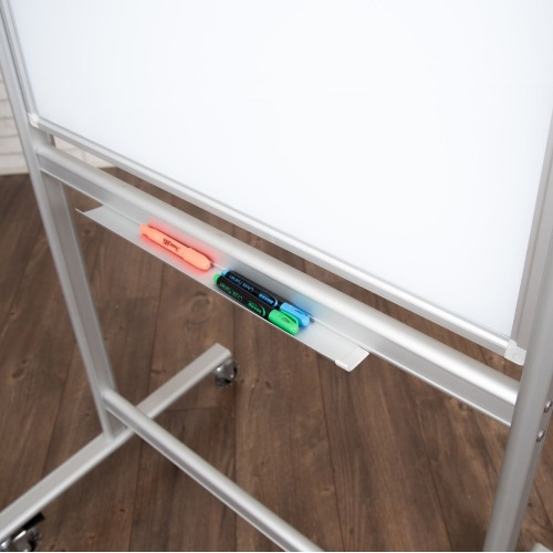 Luxor MMGB3040 - 30x40 Double-Sided Mobile Magnetic Glass Marker Board
