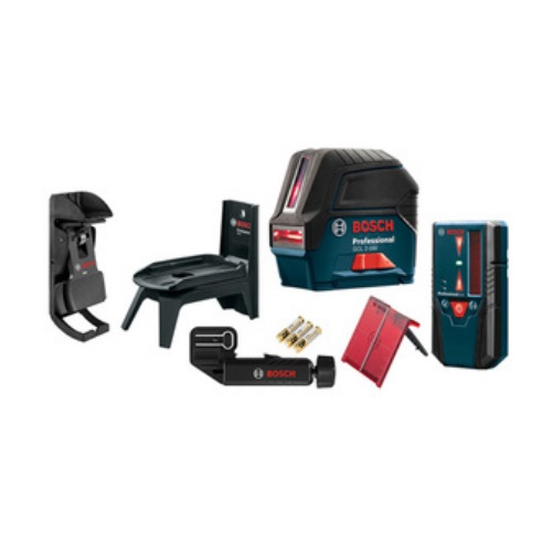 Bosch GCL 2-160 + LR 6 - Self-Leveling Cross-Line Laser with Plumb Points and L-Boxx Carrying Case