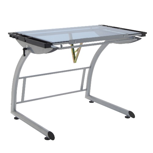 Studio Designs 10089-Silver/Blue Glass - 35 x 23.5 Triflex Drawing Table