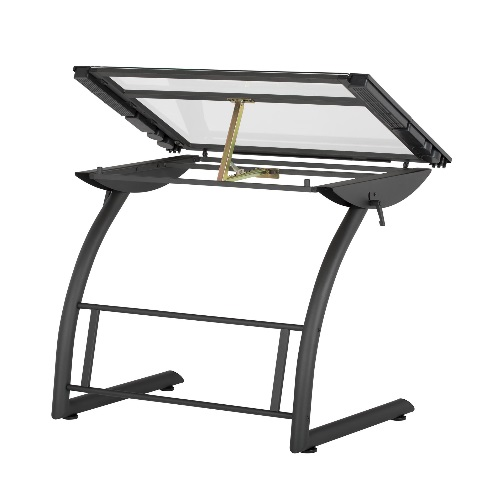 Studio Designs 10088-Charcoal/Clear Glass - 35 x 23.5 Triflex Drawing Table