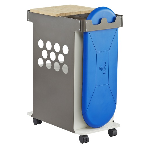 Safco Mini Rolling Storage Cart - 5209WH