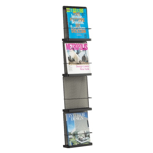 Safco Onyx Wall Mounted Organizer - Four Pocket - 5592BL