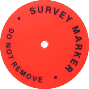 Hubdisc Survey Marker Package of 100 (Part No 24HUBDISC) ES1571